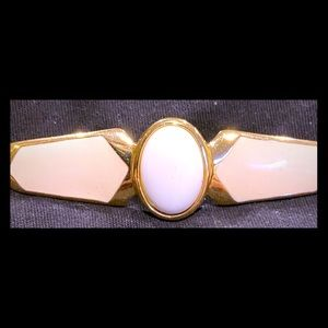 Vintage Gold and white colored brooch